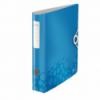 Biblioraft dublu plastifiat 50mm 180° albastru metalizat, LEITZ Active