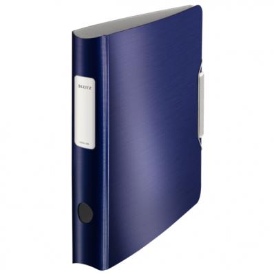 Biblioraft dublu plastifiat 50mm 180° albastru violet, LEITZ Active Style