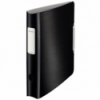 Biblioraft dublu plastifiat 50mm 180° negru satin, LEITZ Active Style