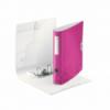 Biblioraft dublu plastifiat 50mm 180° roz metalizat, LEITZ Active