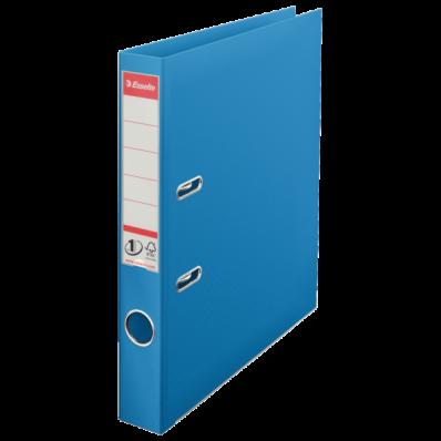 Biblioraft dublu plastifiat 50mm albastru, ESSELTE Standard Vivida