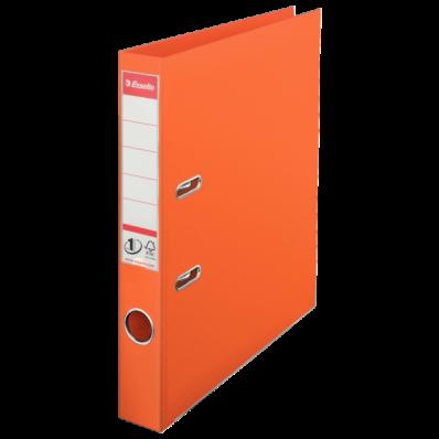 Biblioraft dublu plastifiat 50mm portocaliu, ESSELTE Standard
