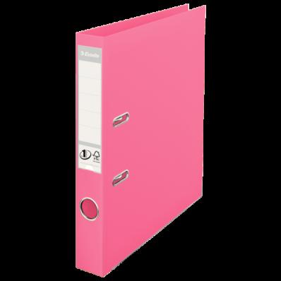 Biblioraft dublu plastifiat 50mm roz, ESSELTE Standard