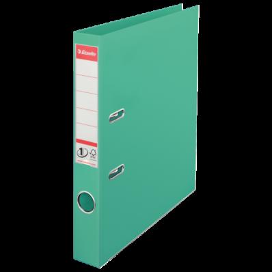 Biblioraft dublu plastifiat 50mm verde menta, ESSELTE Standard