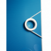 Biblioraft dublu plastifiat 75mm 180° albastru metalizat, LEITZ Active