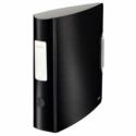 Biblioraft dublu plastifiat 75mm 180° negru satin ,LEITZ Active Style