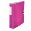 Biblioraft dublu plastifiat 75mm 180° roz metalizat, LEITZ Active