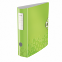 Biblioraft dublu plastifiat 75mm 180° verde metalizat, LEITZ Active