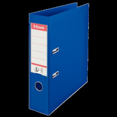 Biblioraft dublu plastifiat 75mm albastru, ESSELTE Standard