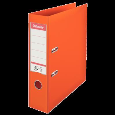 Biblioraft dublu plastifiat 75mm portocaliu, ESSELTE Standard
