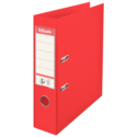 Biblioraft dublu plastifiat 75mm rosu, ESSELTE Standard Vivida