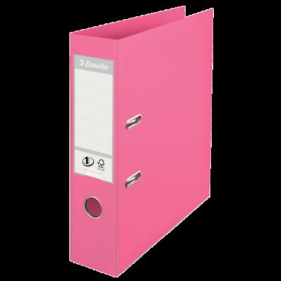 Biblioraft dublu plastifiat 75mm roz, ESSELTE Standard