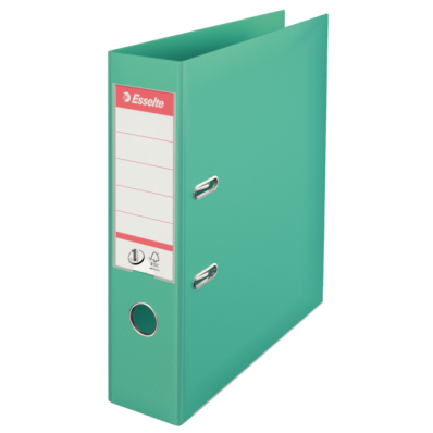Biblioraft dublu plastifiat 75mm verde menta, ESSELTE Standard