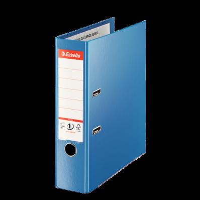 Biblioraft dublu plastifiat 80mm albastru, ESSELTE Jumbo Plus Vivida
