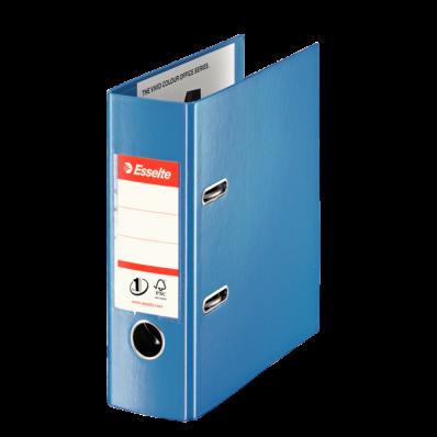Biblioraft dublu plastifiat A5 75mm albastru, ESSELTE Standard Vivida