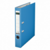 Biblioraft plastifiat 50mm 180° albastru deschis, LEITZ