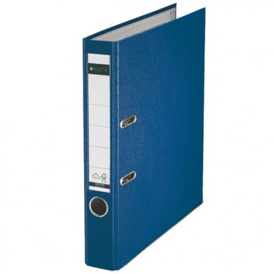 Biblioraft plastifiat 50mm 180° albastru, LEITZ