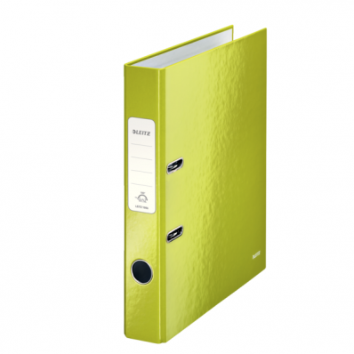 Biblioraft plastifiat 50mm 180° verde metalizat, LEITZ WoW