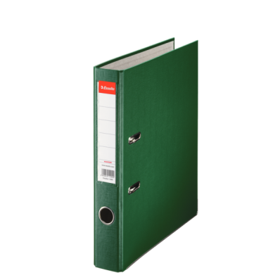 Biblioraft plastifiat 50mm verde, ESSELTE Economy
