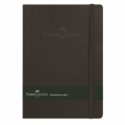 Agenda A5 80 file dictando coperta imitatie piele rosie/neagra, FABER-CASTELL
