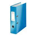 Biblioraft plastifiat 80mm 180° albastru metalizat, LEITZ WoW