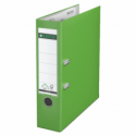 Biblioraft plastifiat 80mm 180° verde deschis, LEITZ