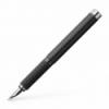 Stilou de lux F corp negru piele, FABER-CASTELL Basic Black