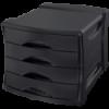 Suport documente cu 4 sertare negru, ESSELTE Europost Vivida