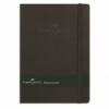Agenda A5 80 file velin coperta imitatie piele rosie/neagra, FABER-CASTELL