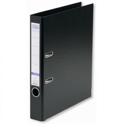 Biblioraft dublu plastifiat 50mm negru, ELBA Smart Pro