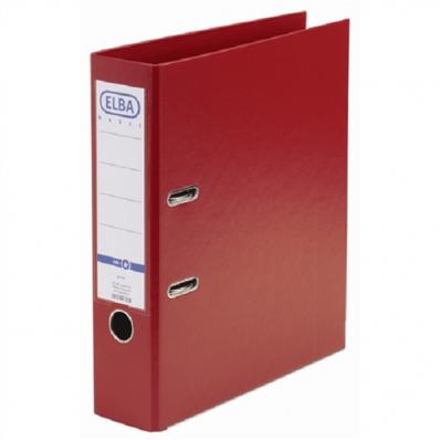 Biblioraft dublu plastifiat 80mm rosu, ELBA Smart Pro