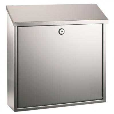 Cutie postala 36x36x10cm metalica argintie, ALCO