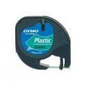 Banda etichetare 12mm x 4m din plastic verde, DYMO LetraTag