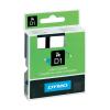 Banda etichetare 12mm x 7m negru/verde, DYMO D1