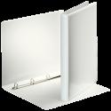 Caiet mecanic cu buzunar A4 4 inele 16mm PP alb, OPTIMA