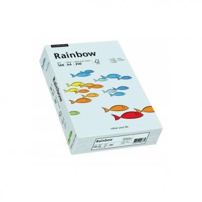 Carton A4 160g/mp 250 coli/top albastru pal, RAINBOW