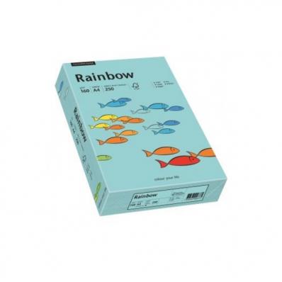 Carton A4 160g/mp 250 coli/top albastru, RAINBOW