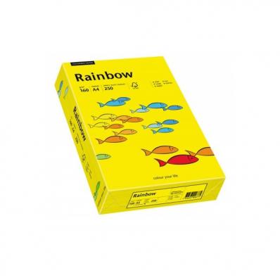 Carton A4 160g/mp 250 coli/top galben intens, RAINBOW