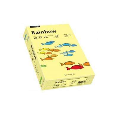 Carton A4 160g/mp 250 coli/top galben pal, RAINBOW