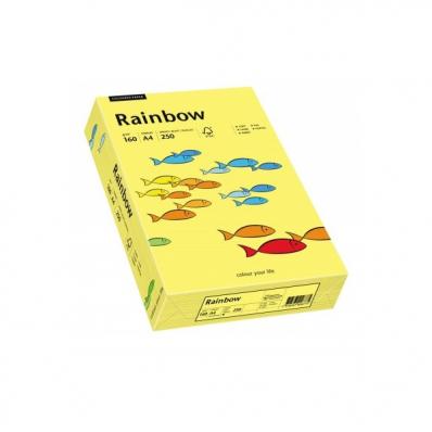 Carton A4 160g/mp 250 coli/top galben, RAINBOW
