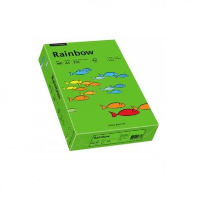 Carton A4 160g/mp 250 coli/top verde intens, RAINBOW