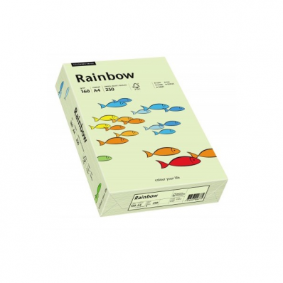 Carton A4 160g/mp 250 coli/top verde pal, RAINBOW