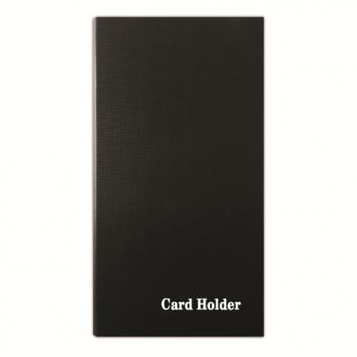 Clasor carti de vizita 4 inele negru, DONAU