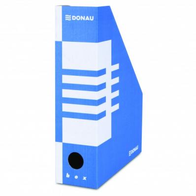 Suport vertical documente 10cm carton albastru, DONAU