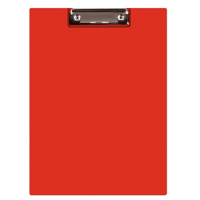Clipboard dublu PVC rosu, Q-CONNECT