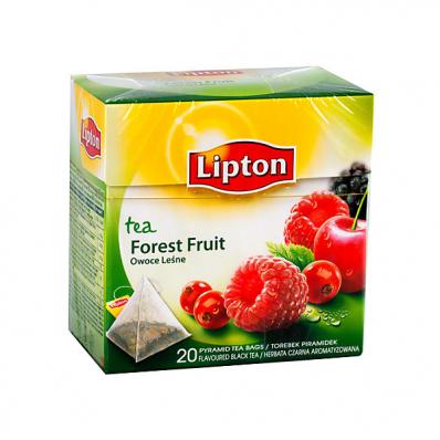 Ceai de fructe de padure 20 pliculete/cut, LIPTON Piramide