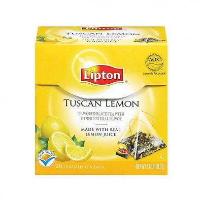 Ceai de lamaie 20 pliculete/cut, LIPTON Piramide