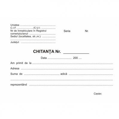 Chitantier A6 autocopiativ 3 ex. 50 set/carnet