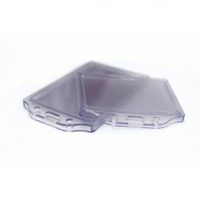 Buzunar ecuson cu dubla fata  PVC transparent  105x74mm orizontal 5 buc/set, KEJEA