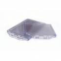Buzunar ecuson cu dubla fata  PVC transparent  74x105mm vertical 5 buc/set, KEJEA
